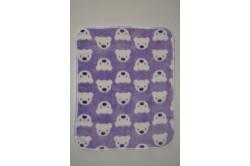 Lilla tæppe med bamser (60 cm. x 50 cm.)