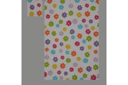Hvid med blomster (sengesæt op til 70 cm.)