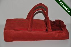 Rød ruskind lift med nister