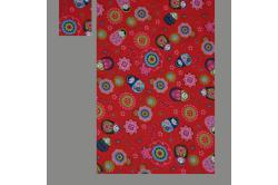 Rød med babushka dukker (sengesæt op til 70 cm.)