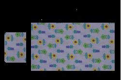 Lilla med blomster (sengesæt til lift/kurv)