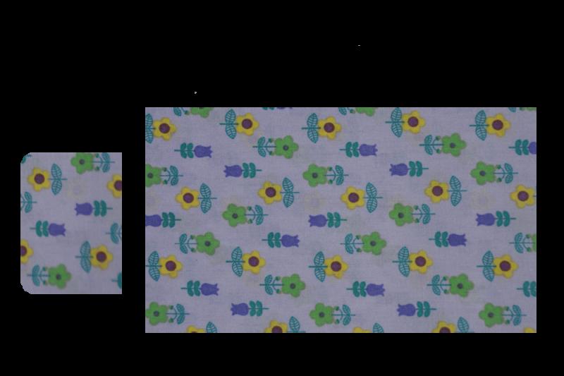 Lilla med blomster (sengesæt til lift)