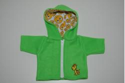 Grøn jakke med giraf