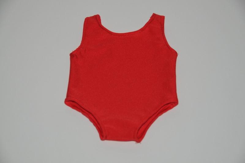 Rød badedragt