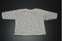 Hvid bluse med multiprikker