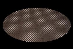 Brun med prikker (madras til kurv)