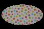 Hvid med blomster (madras til kurv)