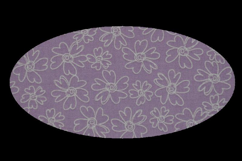 Lilla med blomster (madras til kurv)