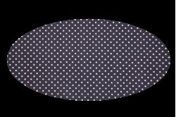 Lilla med prikker (madras til kurv)