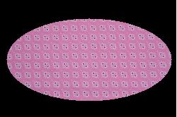 Lyserød med røde hjerter (madras til kurv)