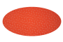 Orange med blade (madras til kurv)