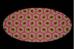 Pink med ugler (madras til kurv)
