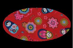 Rød med babushka dukker (madras til kurv)