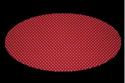 Rød med prikker (madras til kurv)