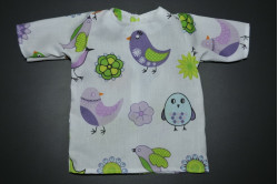 Hvid kjole med fugle
