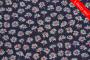 Mørk lilla med bellis blomster lift (Liberty stof)