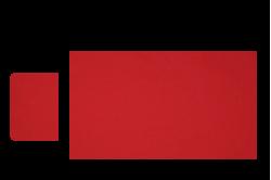 Rød sengesæt til lift/kurv str. 48