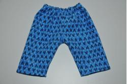 Blå fløjl bukser