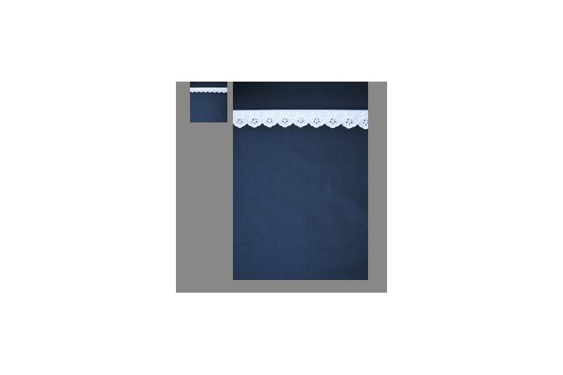Marine med hvid blonde (sengesæt op til 70 cm.)