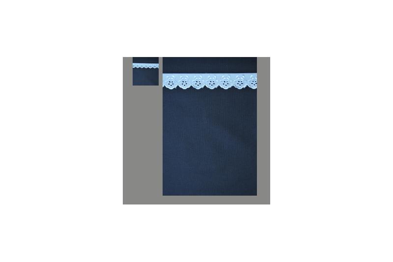 Marine med lyseblå blonde (sengesæt op til 70 cm.)