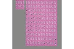Lyserød med røde hjerter (sengesæt op til 70 cm.)