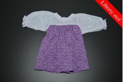 Lilla kjole med blade (Liberty stof)