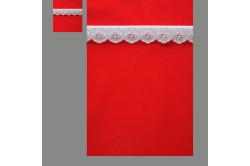 Rød med hvid blonde (sengesæt op til 70 cm.)