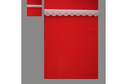 Rød med lyserød blonde (sengesæt op til 70 cm.)