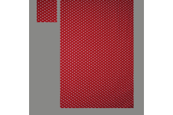 Rød med prikker (sengesæt op til 70 cm.)