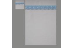 Hvid med lyseblå blonde (sengesæt op til 70 cm.)