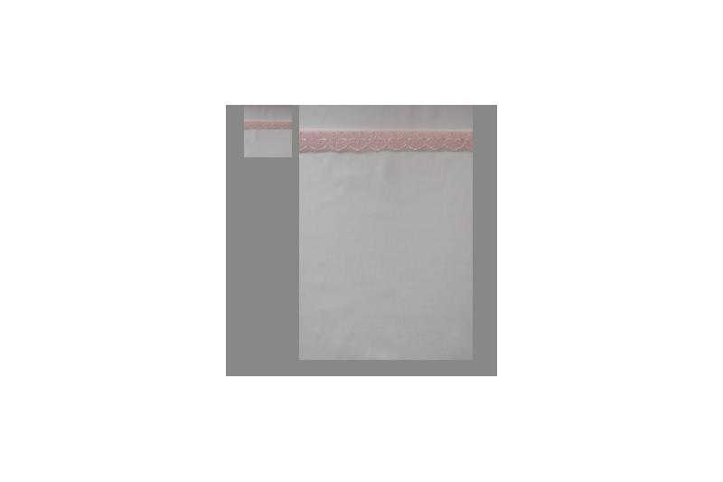 Hvid med lyserød blonde (sengesæt op til 70 cm.)