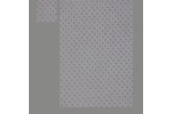 Hvid med lilla prikker (sengesæt op til 70 cm.)