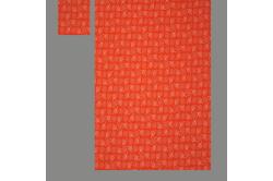 Orange med blade (sengesæt op til 70 cm.)