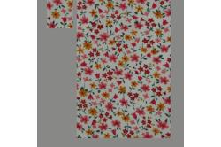 Beige med røde og gule blomster (sengesæt op til 70 cm.)