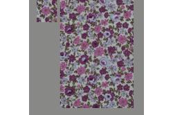 Hvid dukkesengesæt med lilla blomster
