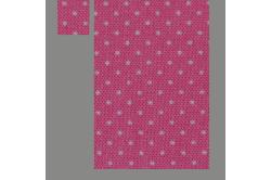 Mørk lilla med sommerfugle (sengesæt op til 70 cm.)