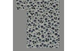 Beige dukkesengesæt med lilla blomster