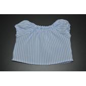 Hvid bluse med lyseblå striber