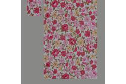 Hvid med røde blomster (sengesæt op til 70 cm.)