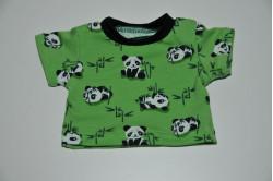 Grøn t-shirt med pandabjørne