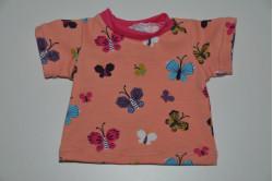 Orange t-shirt med sommerfugle