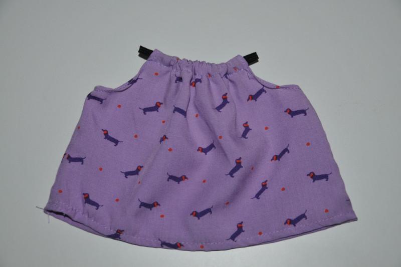 Lilla dukke sommerbluse med gravhunde