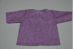 Lilla bluse med edelweiss blomster