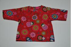 Rød bluse med Babushka dukker