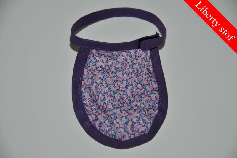 Lilla dukkehagesmæk med blomster smal (Liberty stof)