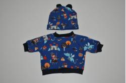 Dukketøj - sæt med trøje og hue