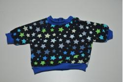 Mørkegrå trøje med multifatvede stjerner