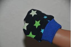 Mørkegrå dukkevanter med stjerner