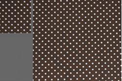 Brun dukkesengesæt med prikker