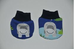 Blå dukkevanter med flodhest